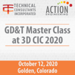 GD&T Master Class at 3D CIC 2020 Oct 12 2020 in Golden CO