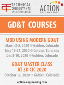GD&T for MBD Courses 2020 in Golden CO