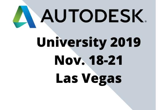 Autodesk University 2019 Las Vegas