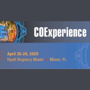 COExperience April 26-29, 2020 Hyatt Regency Miami FL on dark background