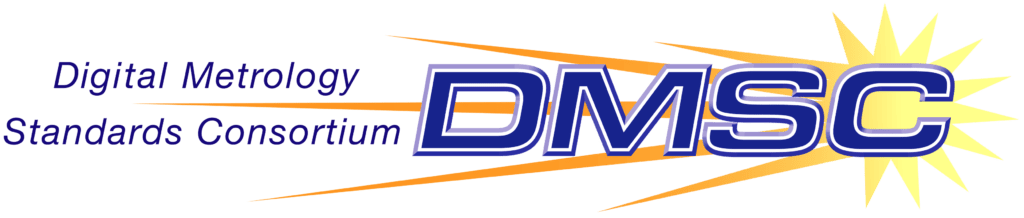 DMSC Digital Metrology Standards Consortium logo with yellow/gold starburst