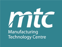 MTC Manufacturing Technology Centre logo white letters on teal background