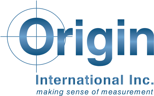 Origin International Inc. blue logo + making sense of measurement