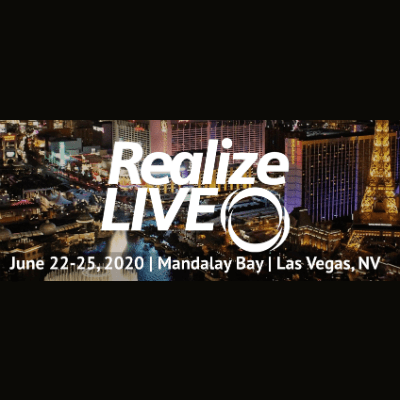 Realize Live 2020 June 22-25 Mandalay Bay Las Vegas NV set on Las Vegas skyline