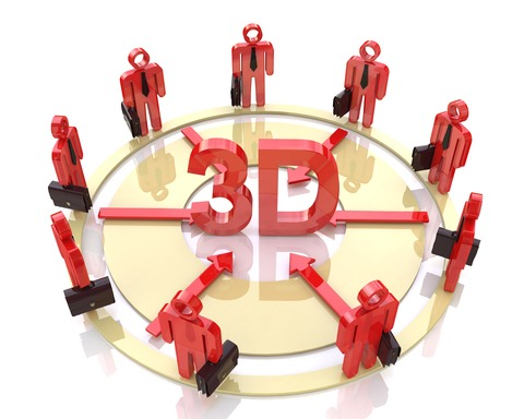 men circling 3D